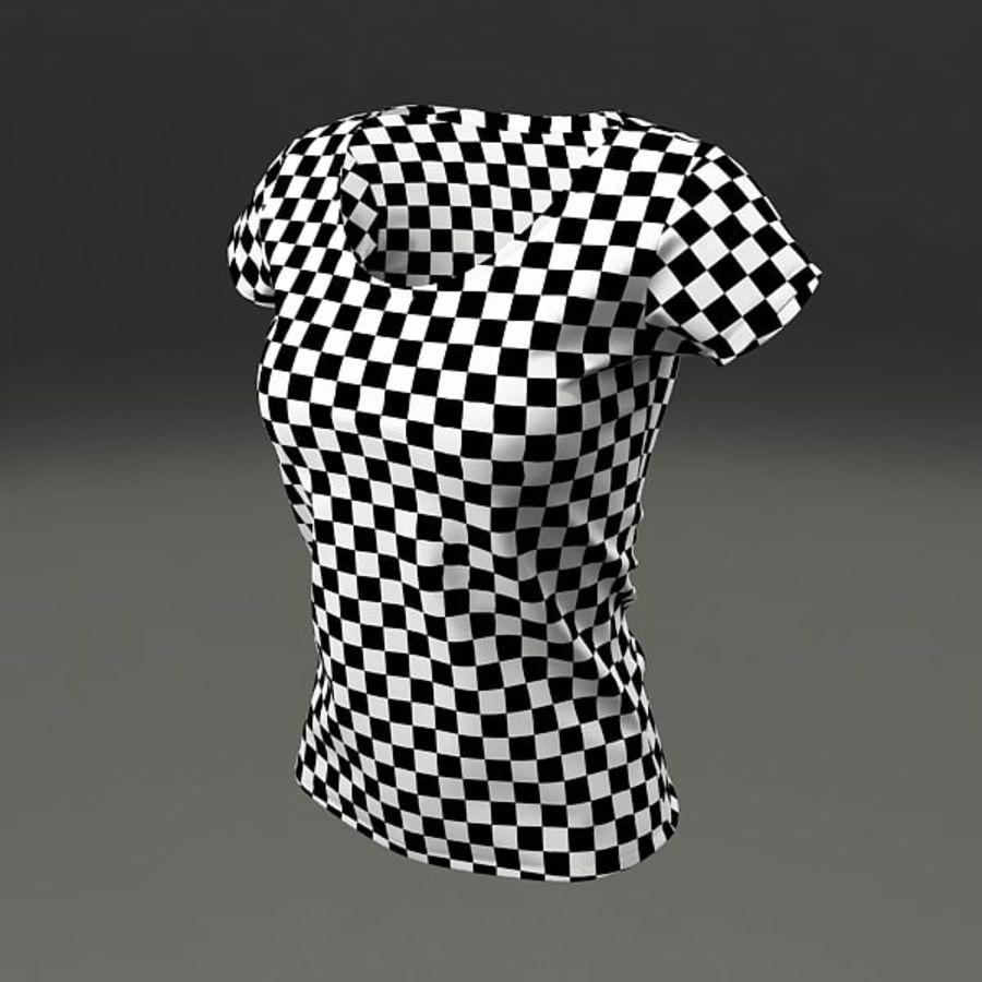 T-shirt wonan royalty-free 3d model - Preview no. 3
