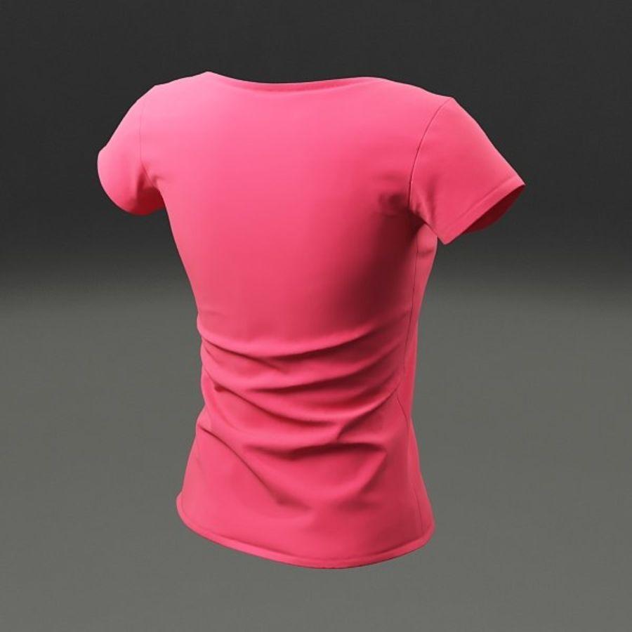 T-shirt wonan royalty-free 3d model - Preview no. 7