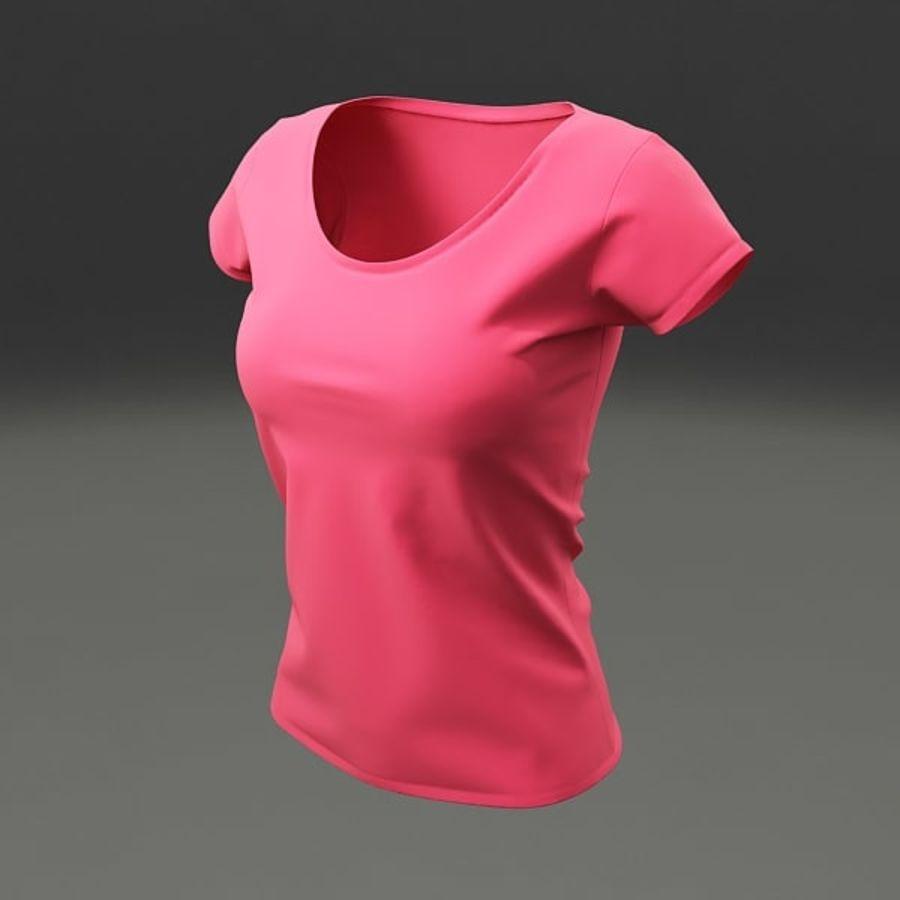 T-shirt wonan royalty-free 3d model - Preview no. 2