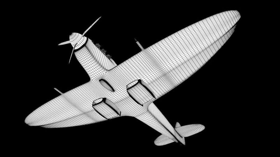 SPITFIRE MKII royalty-free 3d model - Preview no. 4