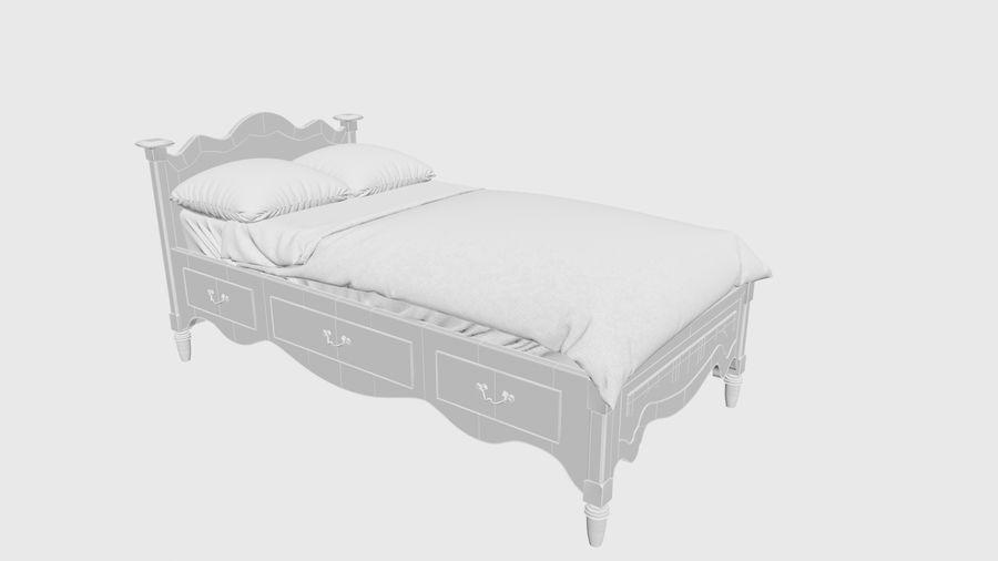 Lit bébé royalty-free 3d model - Preview no. 5