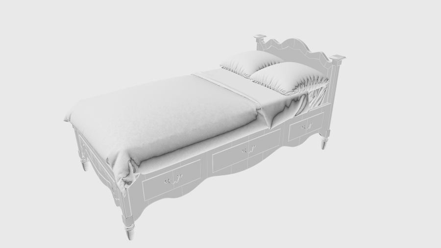Lit bébé royalty-free 3d model - Preview no. 6