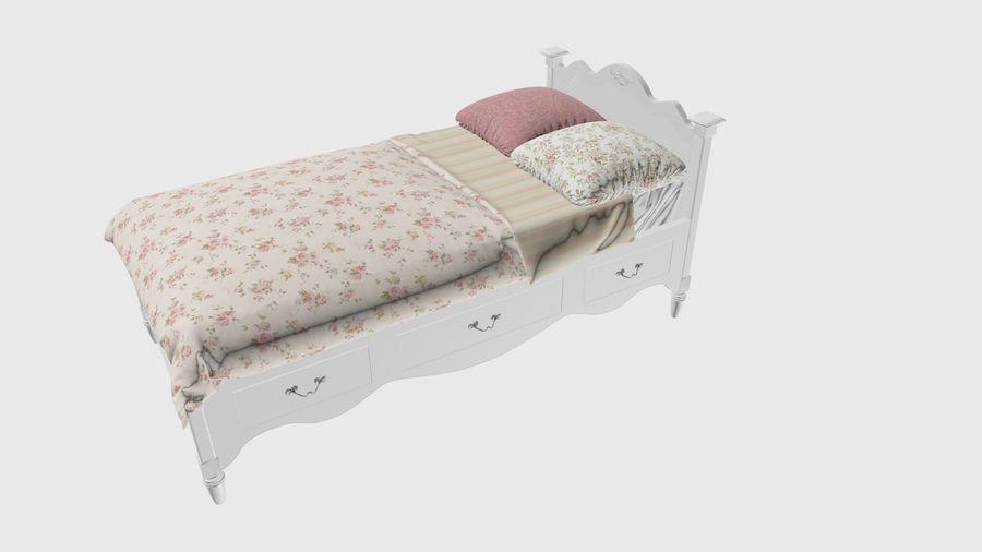 Lit bébé royalty-free 3d model - Preview no. 3