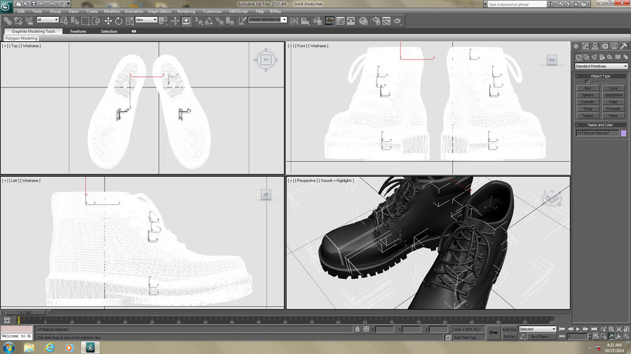 Stiefel royalty-free 3d model - Preview no. 12