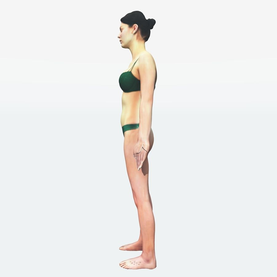 Ref женского тела royalty-free 3d model - Preview no. 28