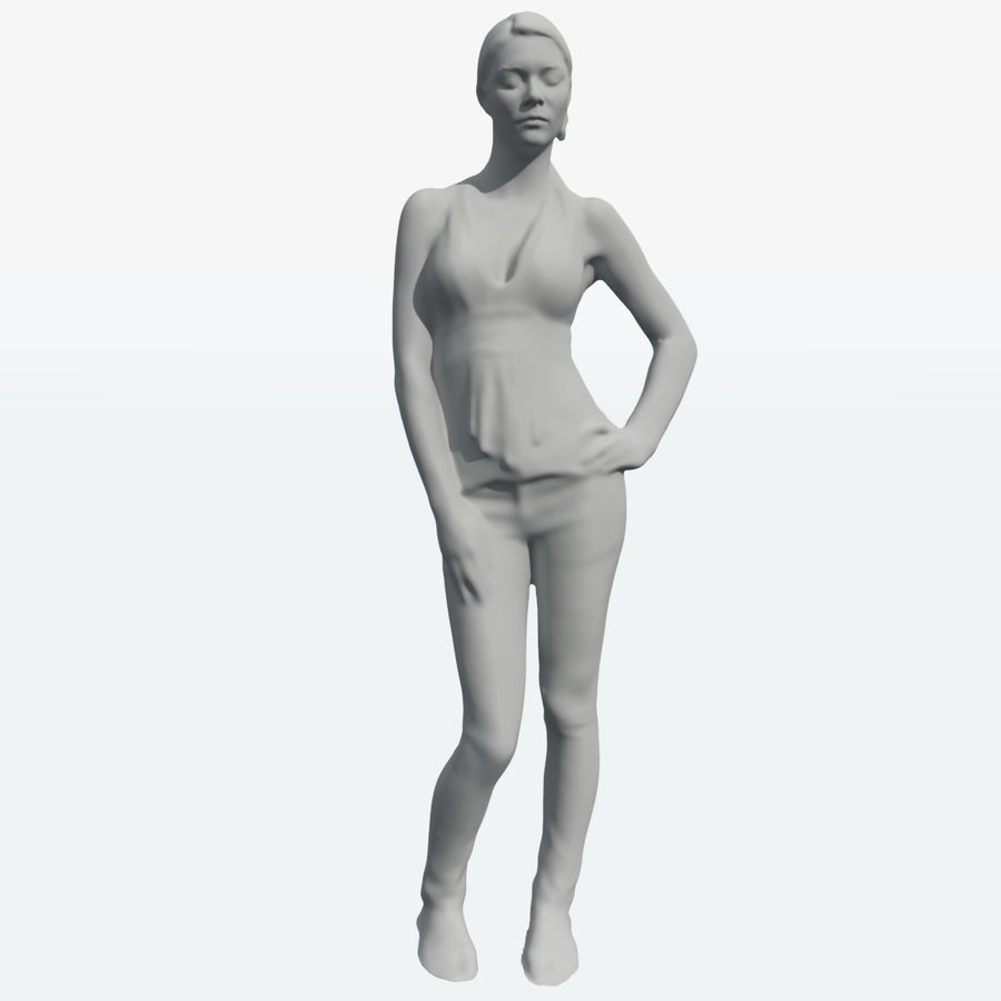 Corps féminin royalty-free 3d model - Preview no. 14