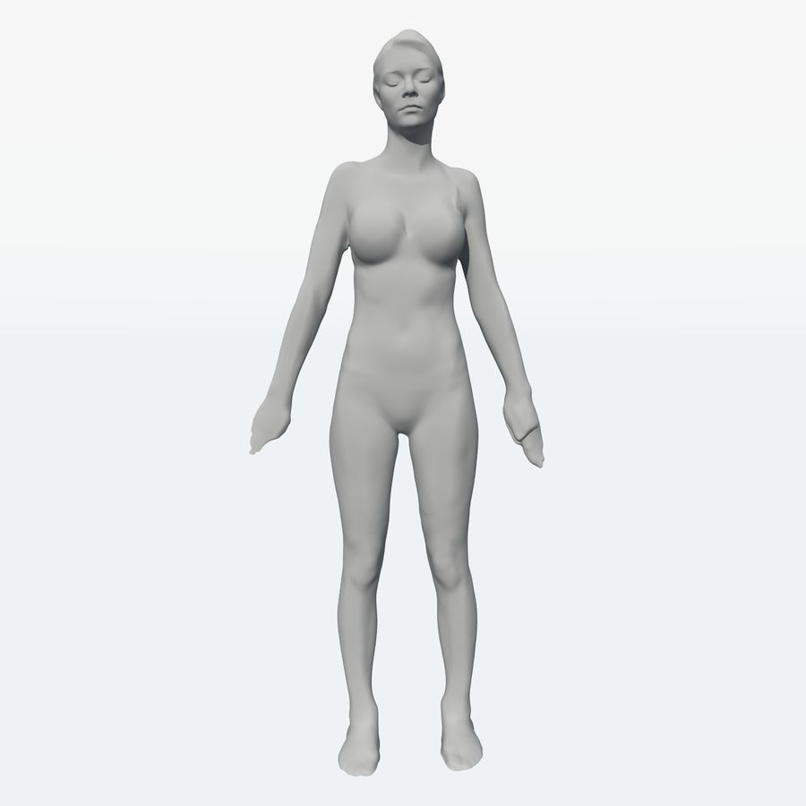 Corps féminin royalty-free 3d model - Preview no. 22