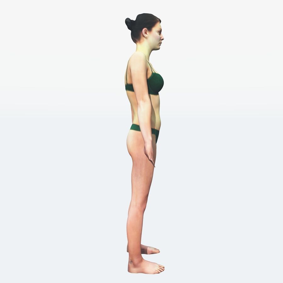Ref женского тела royalty-free 3d model - Preview no. 26