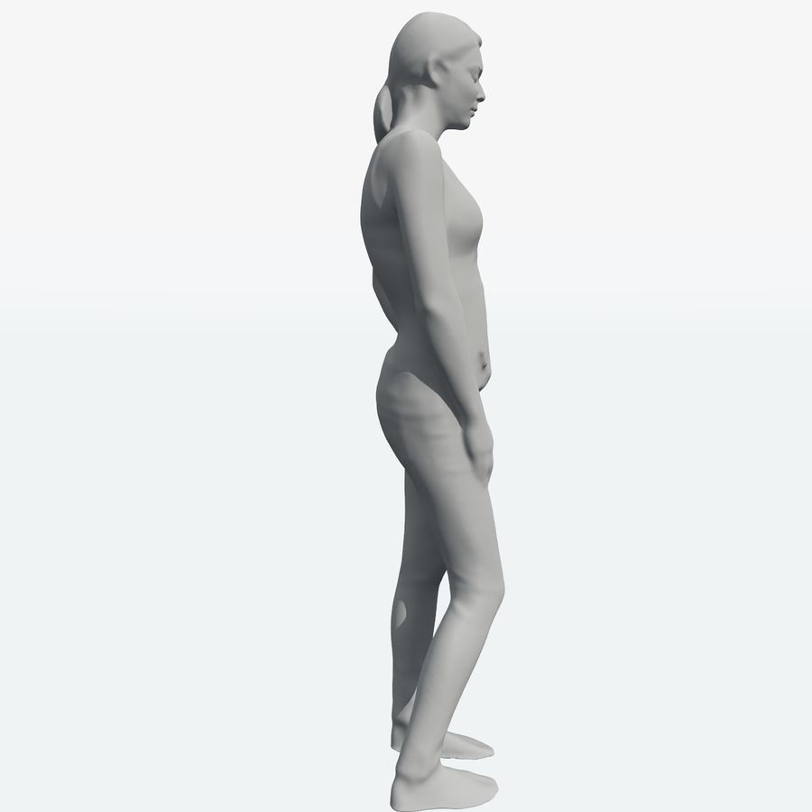 Corps féminin royalty-free 3d model - Preview no. 41