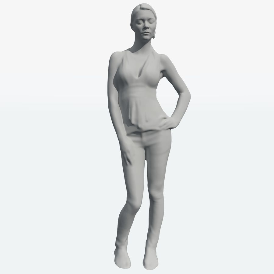 Corps féminin royalty-free 3d model - Preview no. 38
