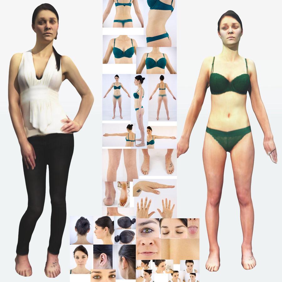 Ref женского тела royalty-free 3d model - Preview no. 1