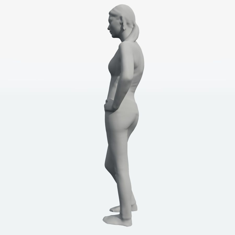 Corps féminin royalty-free 3d model - Preview no. 15
