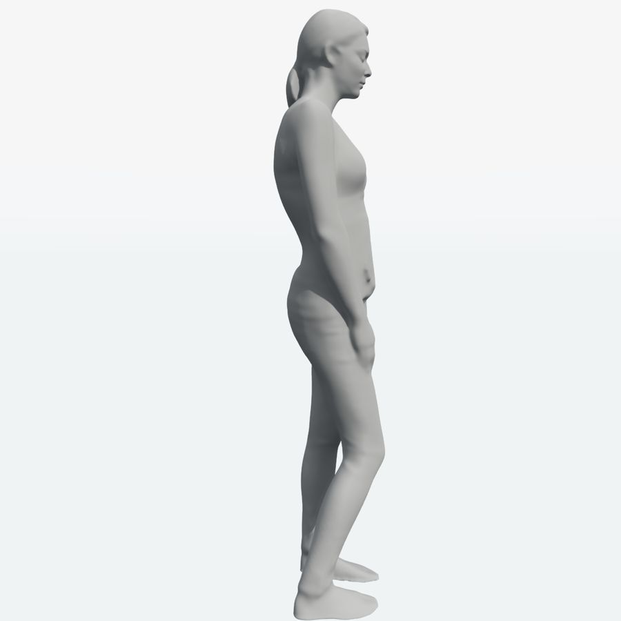 Corps féminin royalty-free 3d model - Preview no. 17