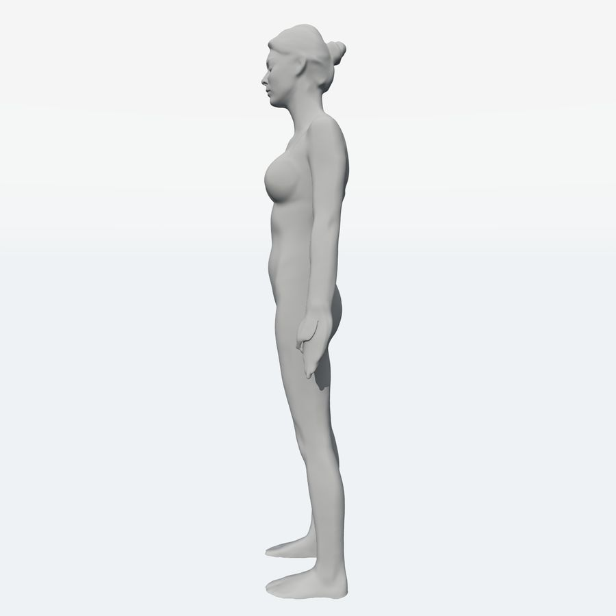 Corps féminin royalty-free 3d model - Preview no. 11