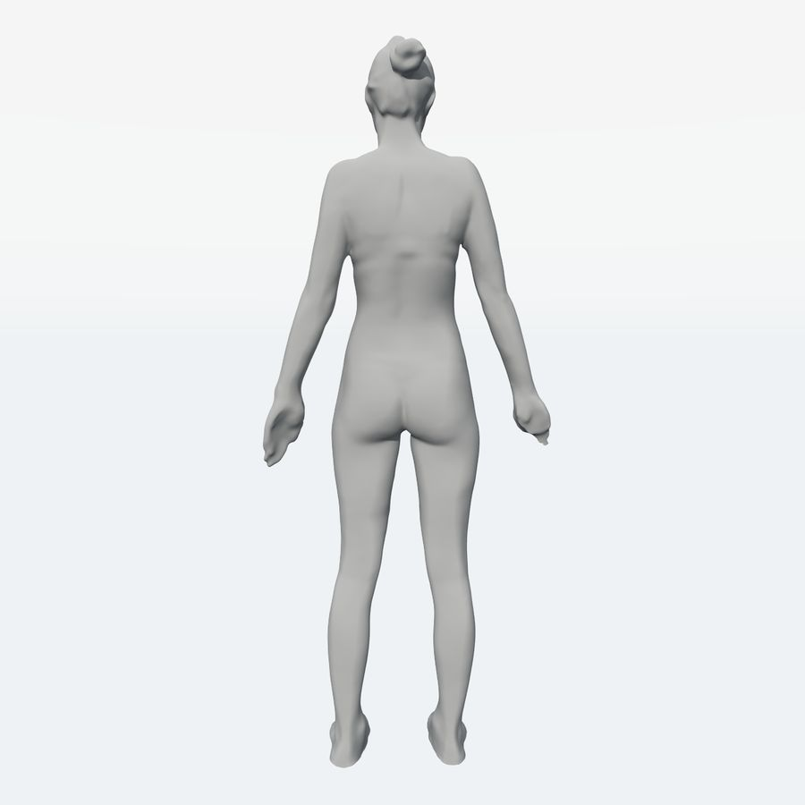 Corps féminin royalty-free 3d model - Preview no. 24
