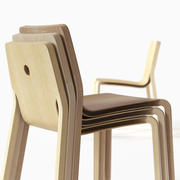 Layer - a stackable plywood chair 3d model