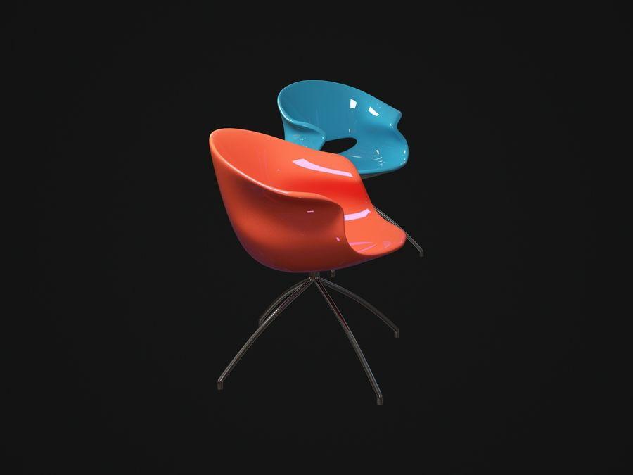 埃多斯主席 royalty-free 3d model - Preview no. 3