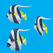 卡通鱼-fish鱼 3d model