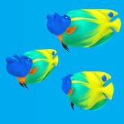 Cartoon Fisch - Blueface 3d model