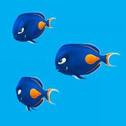 Cartoon Fisch - Tang 3d model