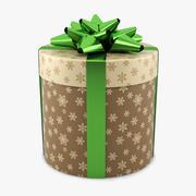 礼品盒圆筒绿色 3d model
