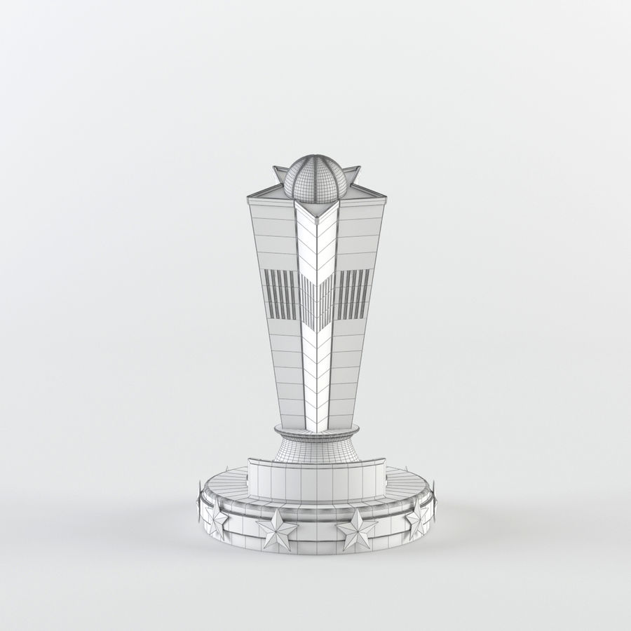 Trophy Cup - Award Set royalty-free 3d model - Preview no. 10