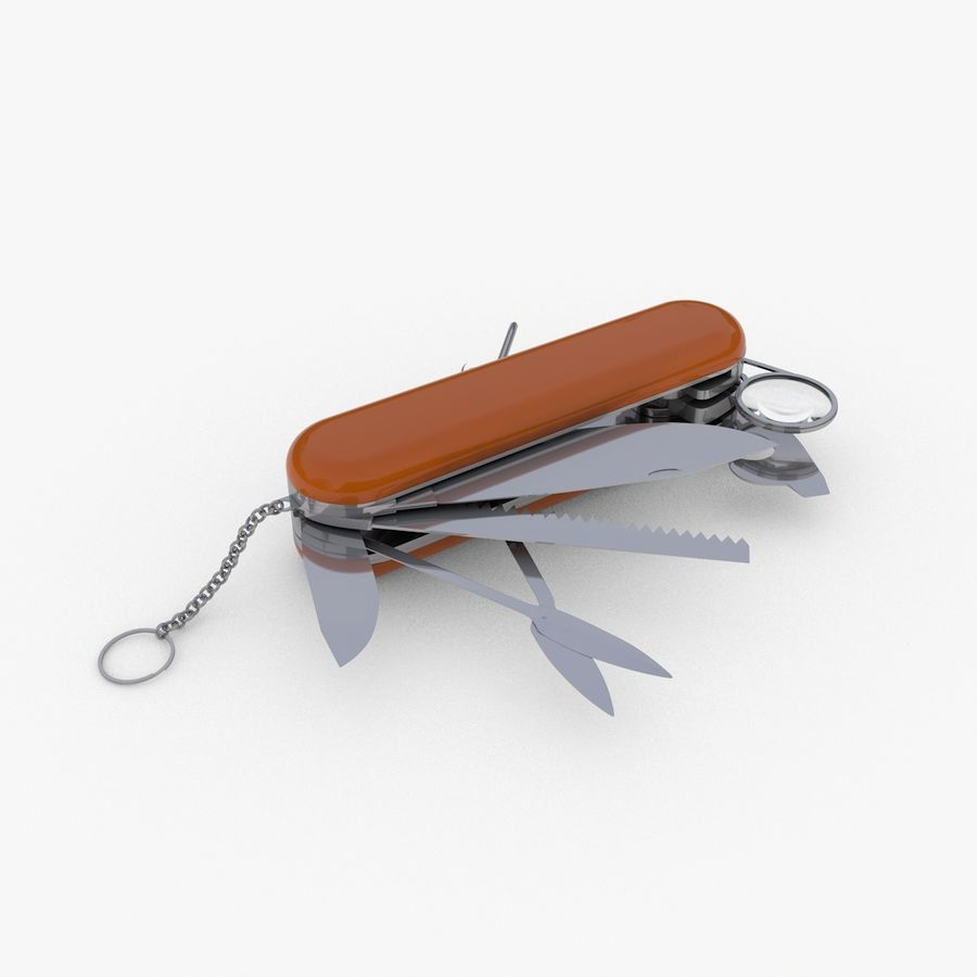 Swiss Army Knife royalty-free 3d model - Preview no. 1