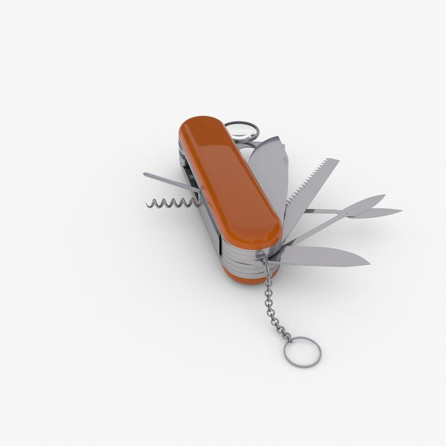 Swiss Army Knife royalty-free 3d model - Preview no. 4