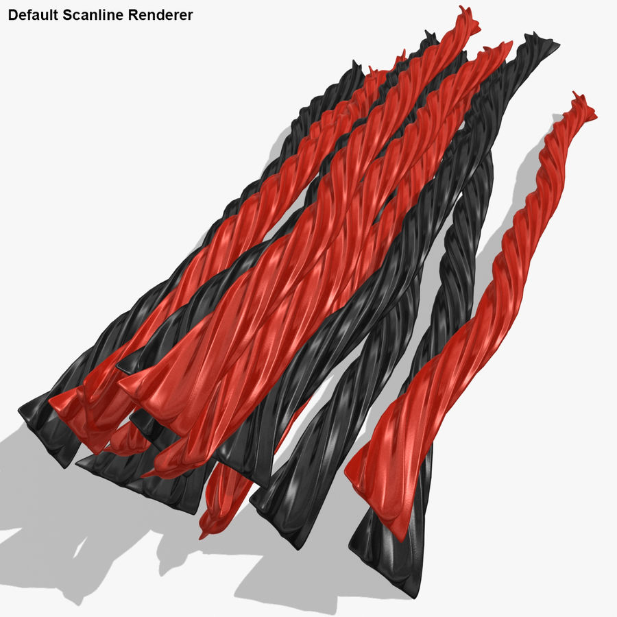 Licorice Candy Twists royalty-free 3d model - Preview no. 20