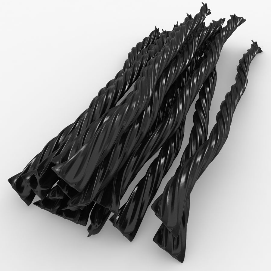 Licorice Candy Twists royalty-free 3d model - Preview no. 3