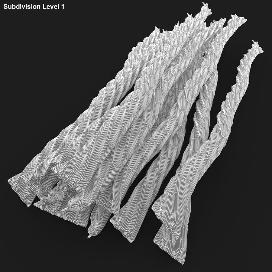 Licorice Candy Twists royalty-free 3d model - Preview no. 18