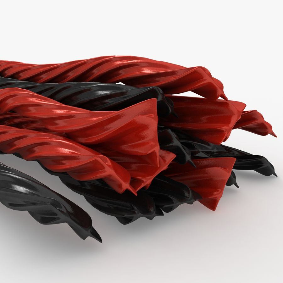 Licorice Candy Twists royalty-free 3d model - Preview no. 8