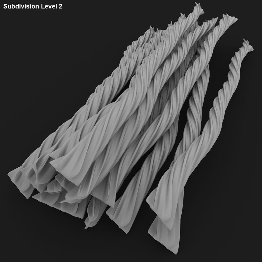 Licorice Candy Twists royalty-free 3d model - Preview no. 19