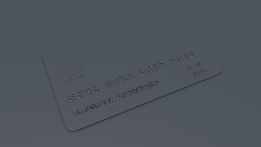 Kredietkaart royalty-free 3d model - Preview no. 6