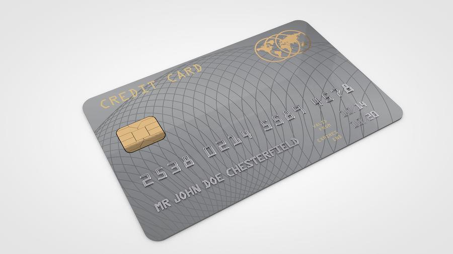 Kredietkaart royalty-free 3d model - Preview no. 5