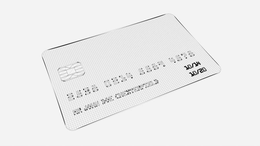 Kredietkaart royalty-free 3d model - Preview no. 7