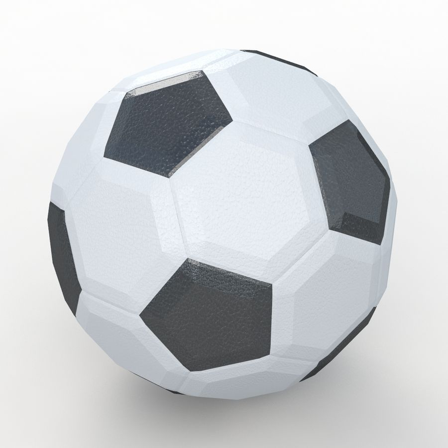Soccerball LowPoly royalty-free 3d model - Preview no. 1