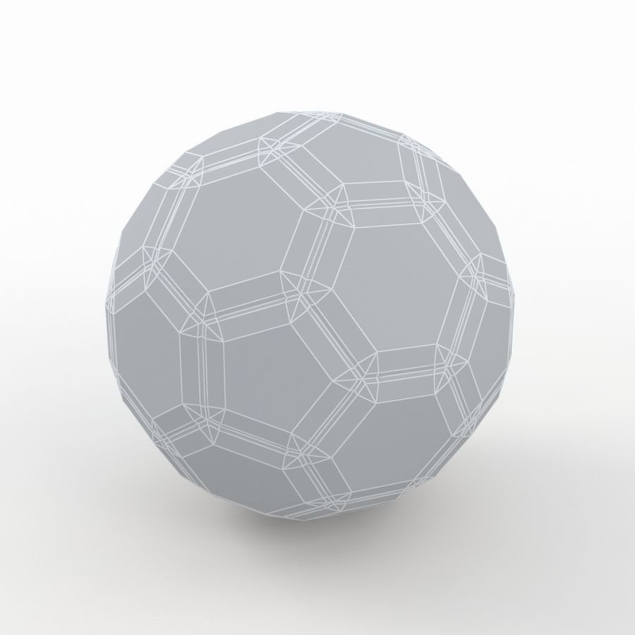 Soccerball LowPoly royalty-free 3d model - Preview no. 7