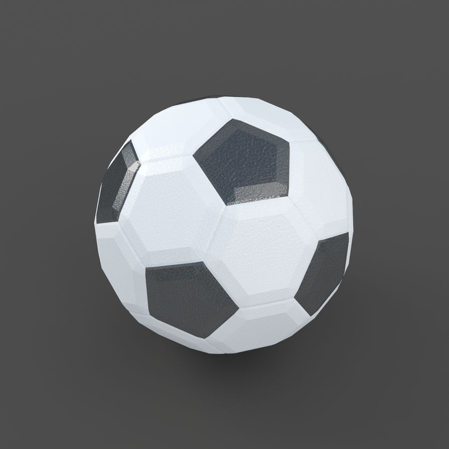 Soccerball LowPoly royalty-free 3d model - Preview no. 2