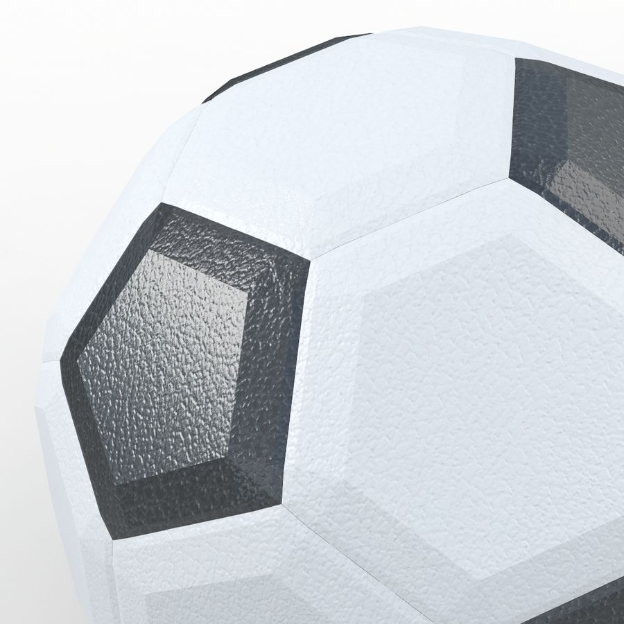 Soccerball LowPoly royalty-free 3d model - Preview no. 3