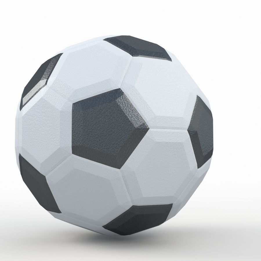 Soccerball LowPoly royalty-free 3d model - Preview no. 6