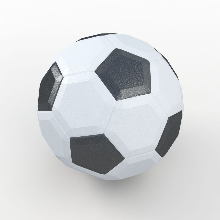 Soccerball LowPoly royalty-free 3d model - Preview no. 5