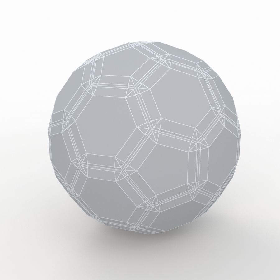 Soccerball LowPoly royalty-free 3d model - Preview no. 8