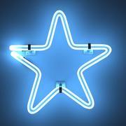 Neon star 3d model
