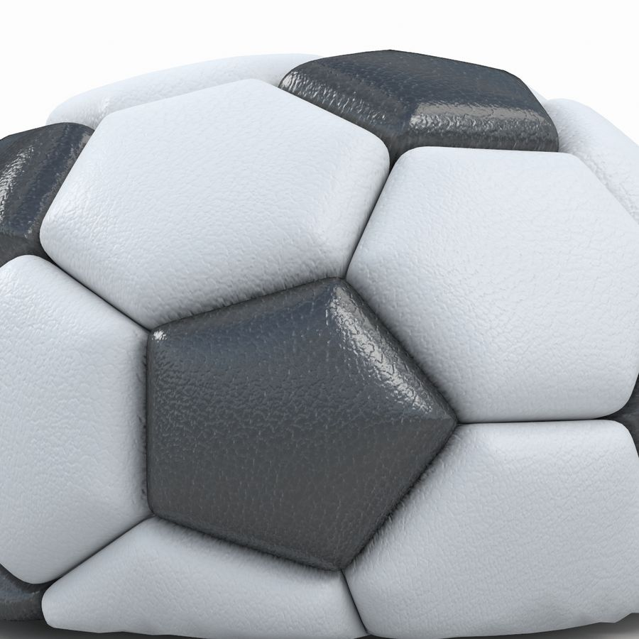 Soccerball semiempty royalty-free 3d model - Preview no. 6