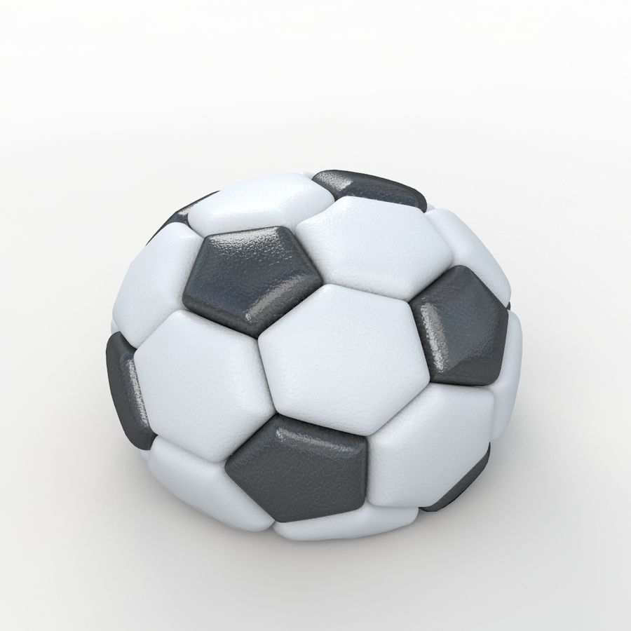 Soccerball semiempty royalty-free 3d model - Preview no. 1