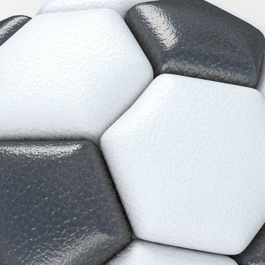 Soccerball semiempty royalty-free 3d model - Preview no. 4