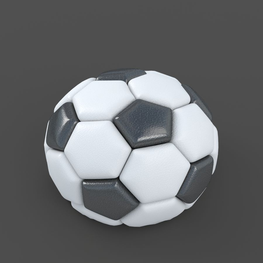 Soccerball semiempty royalty-free 3d model - Preview no. 2