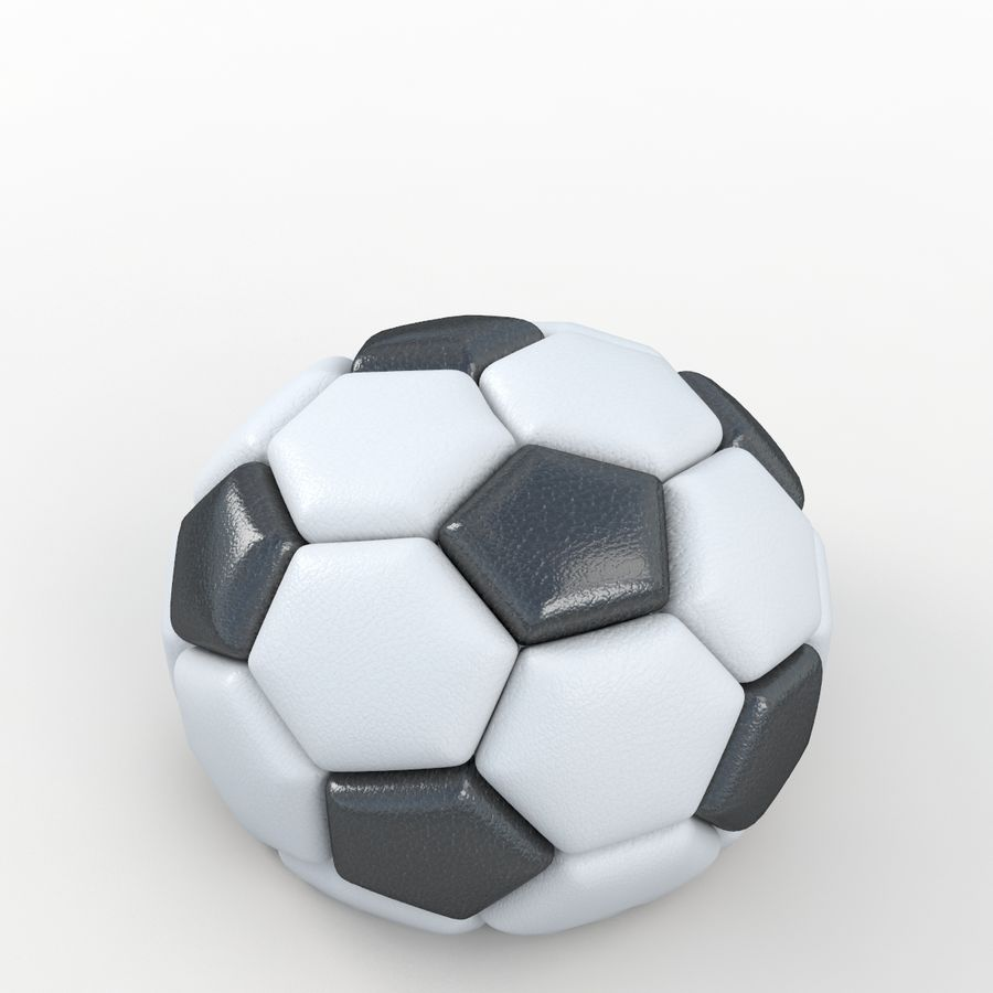 Soccerball semiempty royalty-free 3d model - Preview no. 5