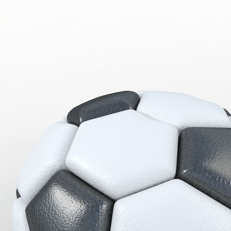 Soccerball semiempty royalty-free 3d model - Preview no. 3